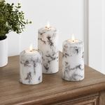 bougie a led cire piliers cire marbre vendues sur deco-lumineuse.fr