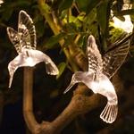 guirlande lumineuse led solaire 10 colibris vendue sur deco-lumineuse.fr