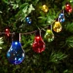 guirlande lumineuse led guinguette solaire 20 ampoules globes couleurs vendue sur deco-lumineuse.fr