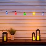 guirlande led guinguette solaire 20 globes couleurs vendue sur deco-lumineuse.fr