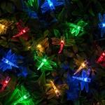 guirlande lumineuse led solaire 20 libellules multicouleurs vendue sur deco-lumineuse.fr