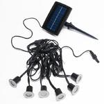 spot led solaire bleu pack de 6 vendus sur deco-lumineuse.fr