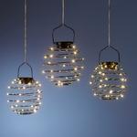 trio de lanternes lumineuse led solaire rechargeable exterieure vendue sur deco-lumineuse.fr