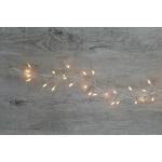 guirlande lumineuse led 720 micro led blanc chaud fil argent