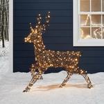 Renne lumineux en rotin-Noel-Exterieur-Jardin 260 led vendu sur deco-lumineuse.fr