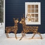 Renne lumineux en rotin-Noel-Exterieur-Jardin 260 leds vendu sur deco-lumineuse.fr