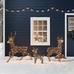 Renne géant lumineux en rotin-Noel-Exterieur-Jardin 260 led vendu sur deco-lumineuse.fr