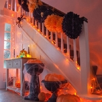 guirlande lumineuse led serie noel orange coeur raccordable 10m 80 m 800 led vendue sur deco-lumineuse.fr