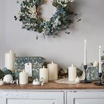 couronne lumineuse de lavent baies blanches et guirlande micro led décoration noël vendue sur deco-lumineuse.fr