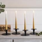 set de 4 bougies led chandelle ombrees or cire veritable et telecommande vendu sur deco-lumineuse.fr