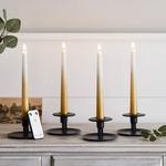 set de 4 bougies led chandelle ombrees or en cire veritable et telecommande vendu sur deco-lumineuse.fr