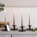 set de 4 bougies led chandelle ombrees bronze en cire veritable et telecommande vendu sur deco-lumineuse.fr