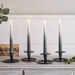 set de 4 bougies led chandelle ombre gris fonce en cire veritable et telecommande vendu sur deco-lumineuse.fr