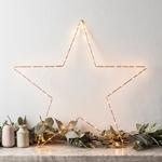 étoile lumineuse murale or et rose vendue sur deco-lumineuse.fr