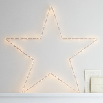 étoile lumineuse noël 80 led blanc chaud murale or et rose vendue sur deco-lumineuse.fr