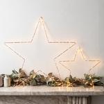 étoile lumineuse noël à poser 80 led blanc chaud  or et rose vendue sur deco-lumineuse.fr