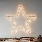 étoile lumineuse 80 led blanc chaud murale or et rose vendue sur deco-lumineuse.fr