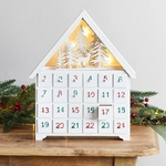 calendrier avent chalet bois lumineux vendu sur deco-lumineuse.fr