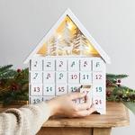 calendrier avent chalet bois lumineux 360 led blanc chaud vendu sur deco-lumineuse.fr