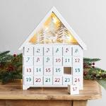 calendrier avent chalet bois lumineux led vendu sur deco-lumineuse.fr
