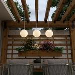 lampe led sans fil design a suspendre rvb soro beige mobilier lumineux vendue sur deco-lumineuse.fr
