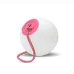 boule led à suspendre sans fil telecommande rvb soroi rose vendu sur deco-lumineuse.fr