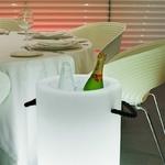 seau à champagne et glace lumineux led rvb sans fil telecommande palmo vendu sur deco-lumineuse.fr