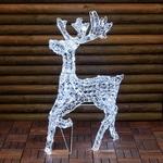 renne lumineux de noël exterieur au galop 85 cm 200 led vendu sur deco-lumineuse.fr
