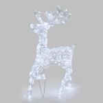 renne lumineux de noël exterieur au galop 85 cms 200 leds vendu sur deco-lumineuse.fr