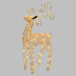 renne lumineux led de noël 47 cm cuivrée 100 leds interieur vendu sur deco-lumineuse.fr