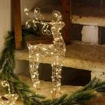 renne led de noël 47 cm cuivre 100 leds interieur vendu sur deco-lumineuse.fr