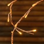 branche lumineuses led de noël cuivre 3M 288 led blanc chaud vendue sur deco-lumineuse.fr