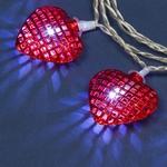 guirlandes lumineuse led blanc froid 10 coeurs rouges vendue sur deco-lumineuse.fr
