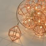 guirlande lumineuse led cuivre 10 diamants leds blanc chaud vendue sur deco-lumineuse.fr
