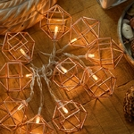 guirlande lumineuse cuivre 10 diamants led blanc chaud vendue sur deco-lumineuse.fr