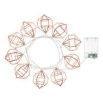 guirlande lumineuses led cuivre 10 diamants leds blanc chaud vendue sur deco-lumineuse.fr