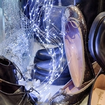 guirlande led cascade lumineuse 15 fils 900 micro leds blanc froid vendu sur deco-lumineuse.fr