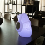 lampe portable led design rvb sans fil rechargeable musicale pere noel vendu sur deco-lumineuse.fr