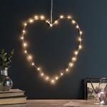 coeur lumineuse led or rose 30 micro led vendu sur deco-lumineuse.fr