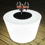 table basse lumineuse led sans fil yoan vendu sur www.deco-lumineuse.fr