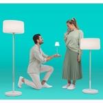 lampadaire sans fil rechargeable rvb design chloe plant vendu sur deco-lumineuse.fr