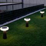 lampe led à poser solaire sans fil design rechargeable paquita 40 vendue sur deco-lumineuse.fr