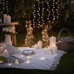 lapins lumineux 50 CM led en rotin deco jardin vendus sur deco-lumineuse.fr