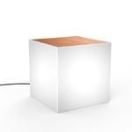 cube lumineux led bois design avec fil 40 cm extérieur baro vendu sur deco-lumineuse.fr