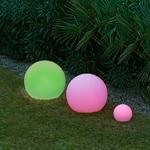 boule lumineuse led sans fil solaire extérieure rvb bubbly 60 vendue sur deco-lumineuse.fr