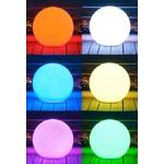 boule lumineuse led extérieure solaire sans fil multicolore bubbly vendue sur deco-lumineuse.fr