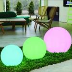 boule led solaire rvb sans fil rechargeable multicolore bubbly 50 vendue sur deco-lumineuse.fr