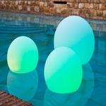 boule lumineuse led sans fil multicolore solaire flottante bubbly 40