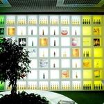 présentoir bouteilles mural lumineux led alcool bière vin vendu sur deco-lumineuse.fr