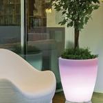 pot led sans fil solaire extérieur rechargeable conique 55 vendu sur deco-lumineuse.fr
